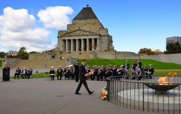 Battle of the Coral Sea Commemoration Laying of a wreath, Mr Todd McGee, Vice Consul, United States of America